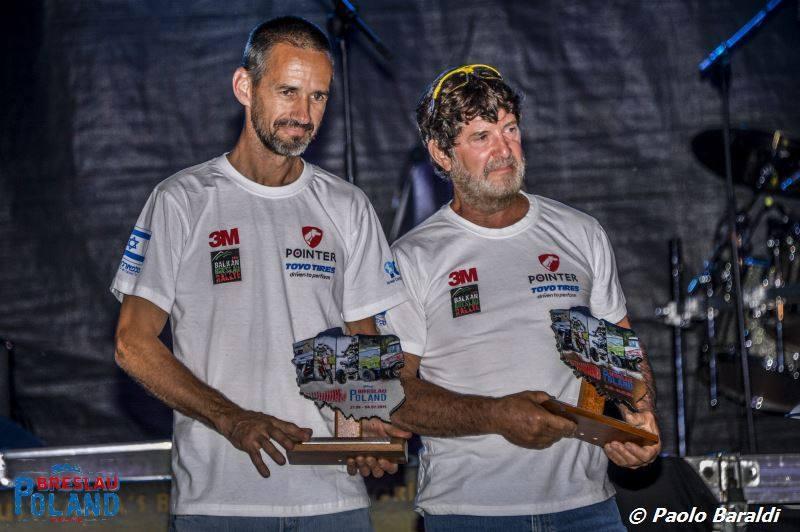 רז היימן והלל סגל, צוות פוינטר 3M, בסיום ראלי ברסלאו פולין 2015