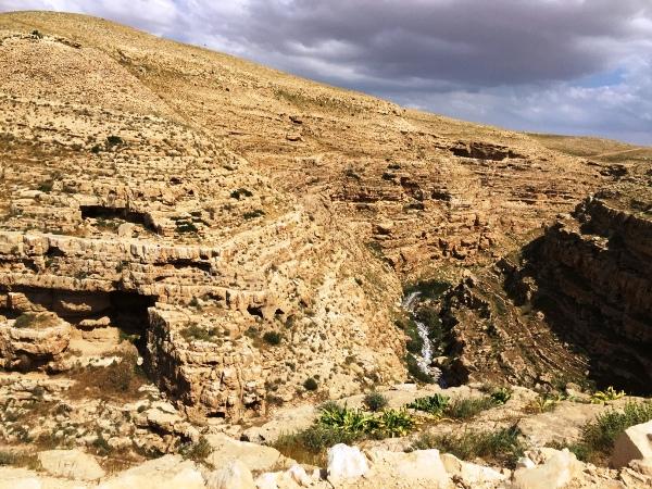 הר מונטאר מדבר יהודה כפי שנצפה על ידי מטיילים בטיול שטח