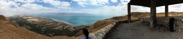תצפית פנורמית על נוף ים המלח