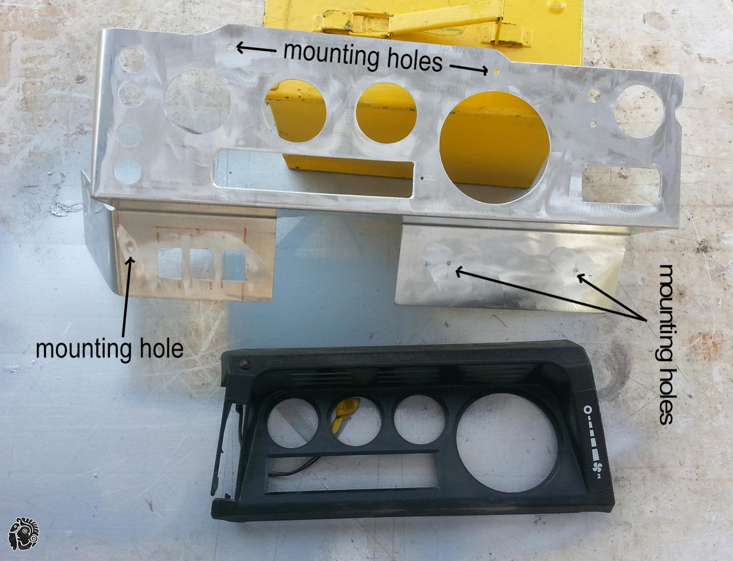 בניית לוח שעונים חדש לדיפנדר שטח בעבודה עצמית כלי עבודה מקדח כוס, דיסק, משחזת